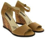Womens Platform High Heel Wedge Sandals Thumbnail 4