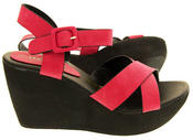 Ladies Wedge Platform Strappy Sandals Thumbnail 7