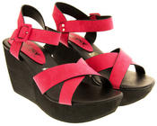 Ladies Wedge Platform Strappy Sandals Thumbnail 8