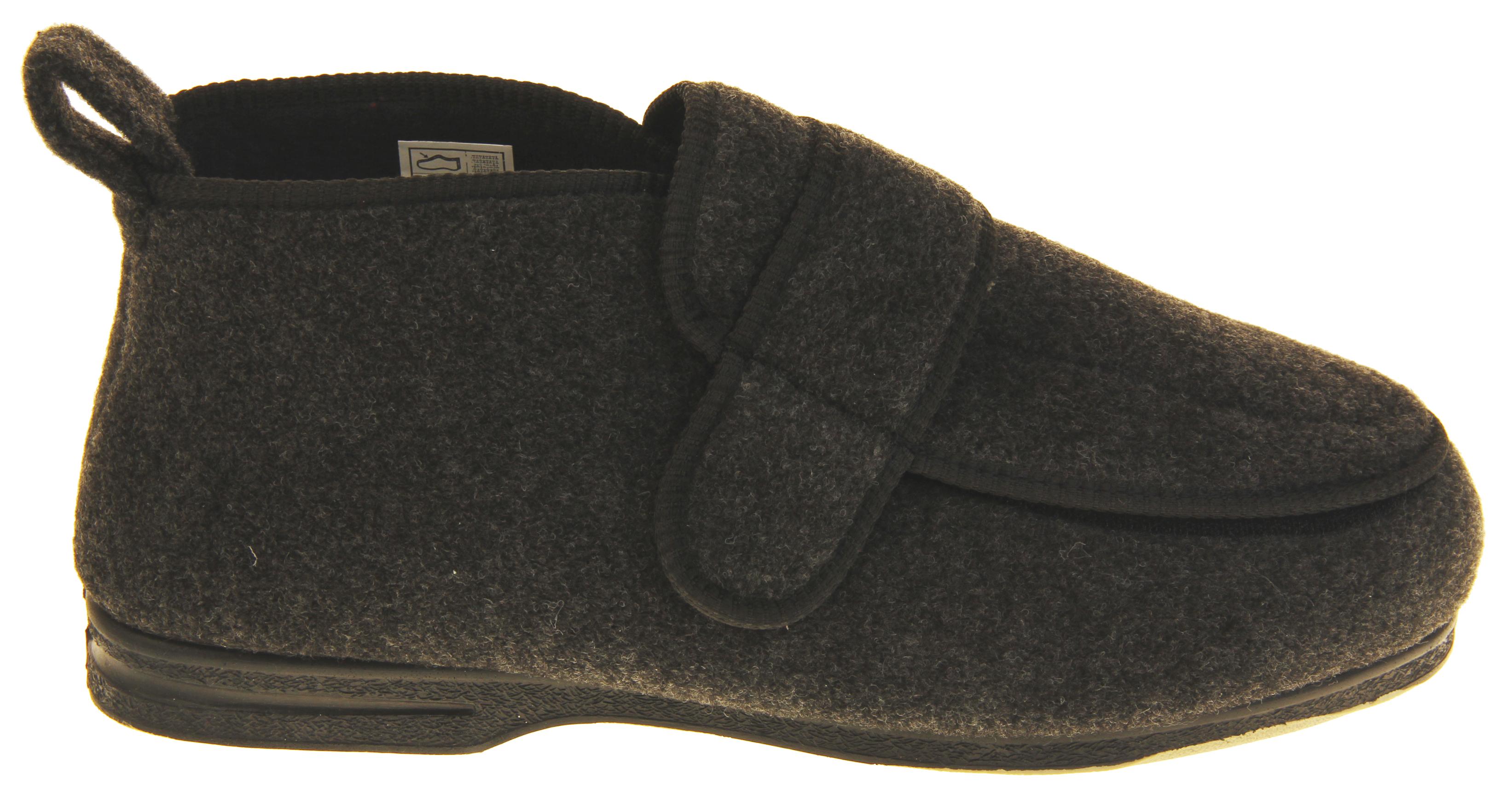 Mens Extra Wide Slippers Mens Wide Fit Slippers Genuine Velcro 4E Width EEEE