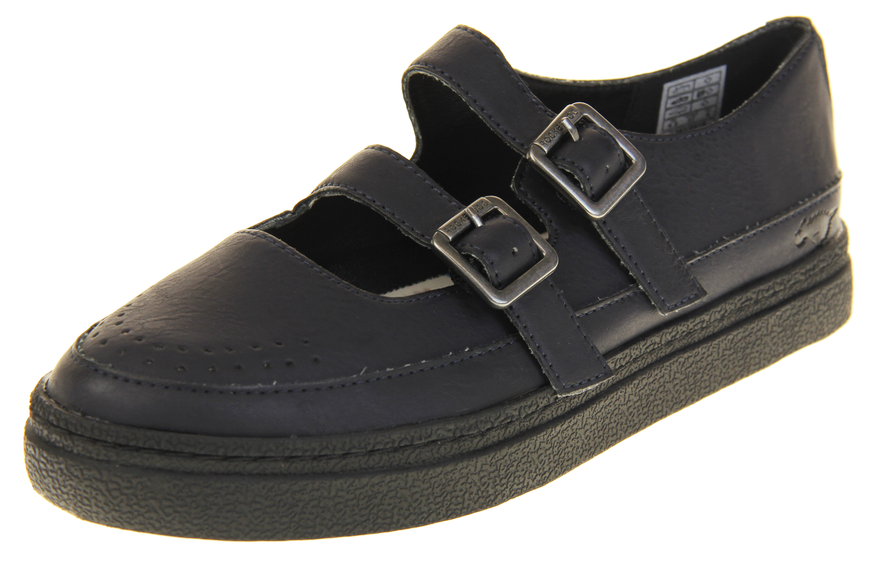 Womens Flat Rocket Dog Synthetic Leather Twin Strap Shoes  accbcde184
