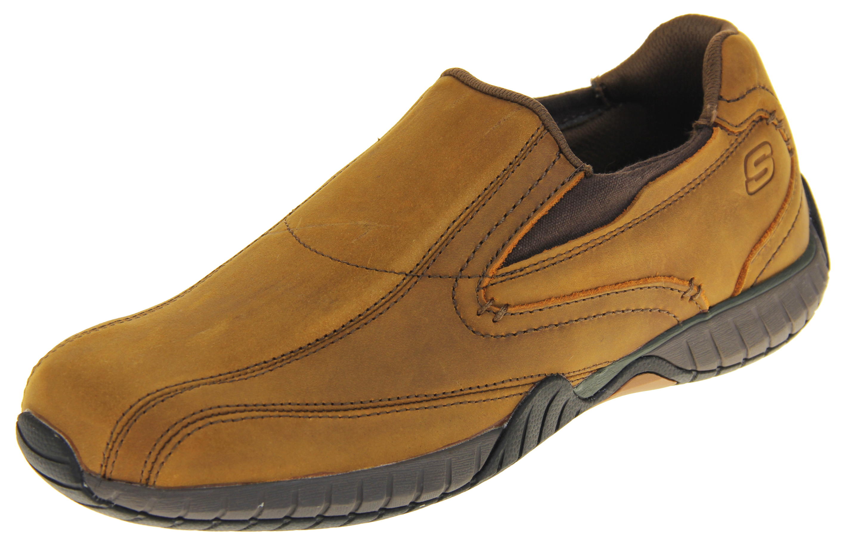 bbe7b9a979f Mens Skechers Brown Quality Leather Memory Foam Loafer Trainers   Womens,  Mens, Kids Shoes   Heels, Trainers & Boots   Footwear Studio