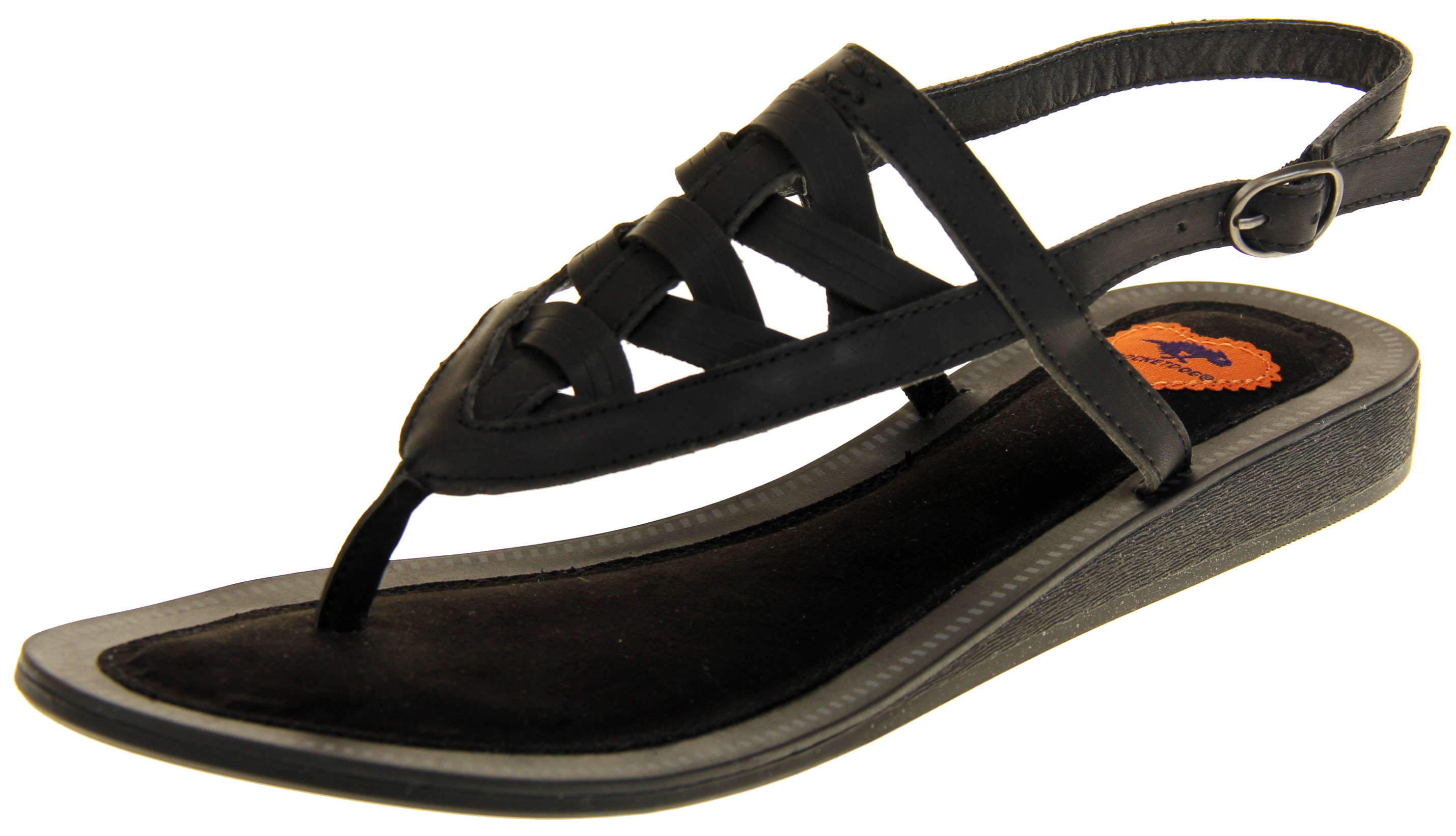 475da032e Womens Ladies Black Rocket Dog Fashion Sandals Flip Flops