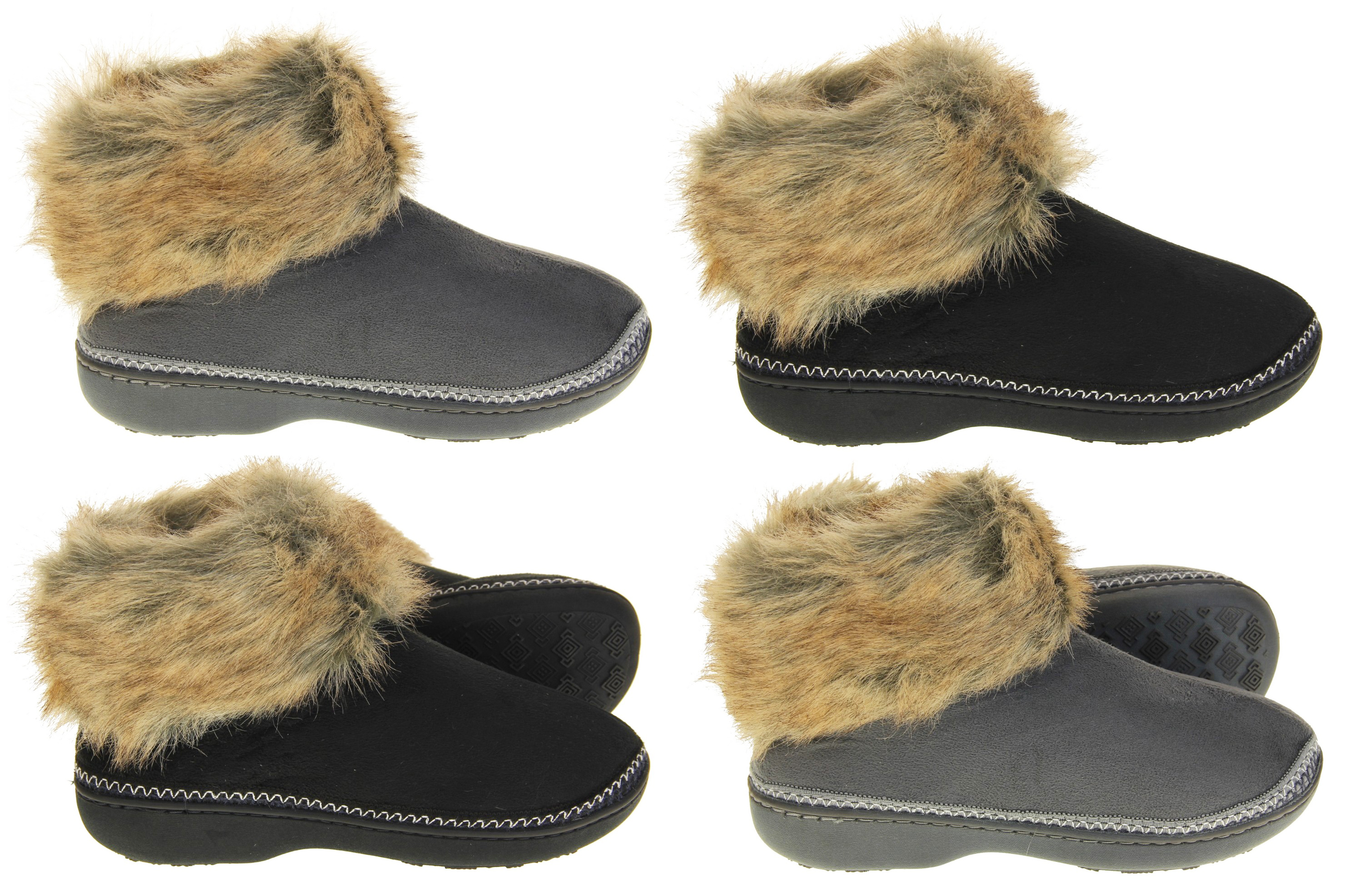 Womens Dunlop Boot Slippers Ladies