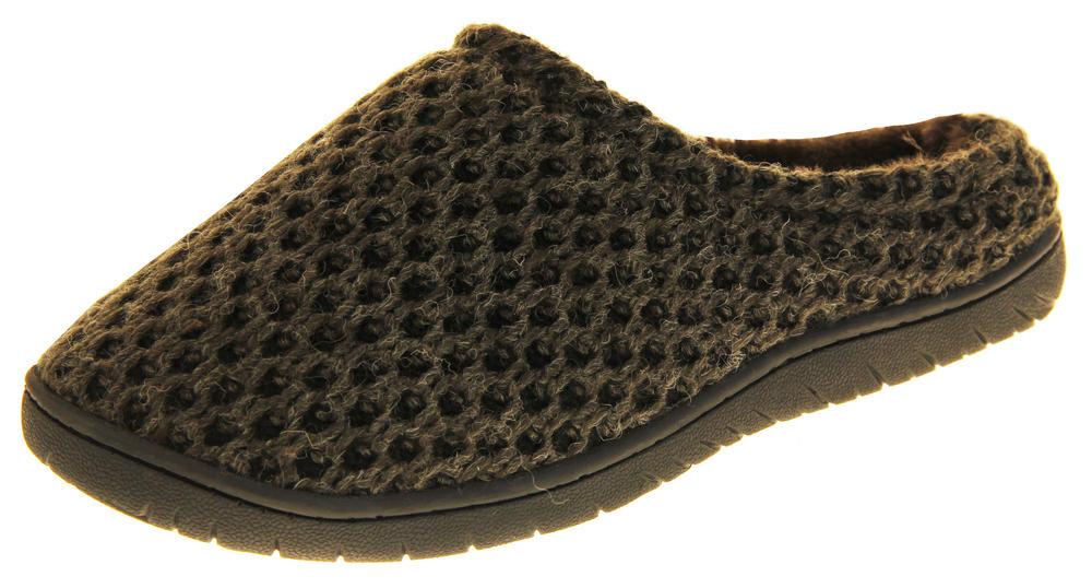 Mens Dunlop Abelard Memory Foam Mule Slippers