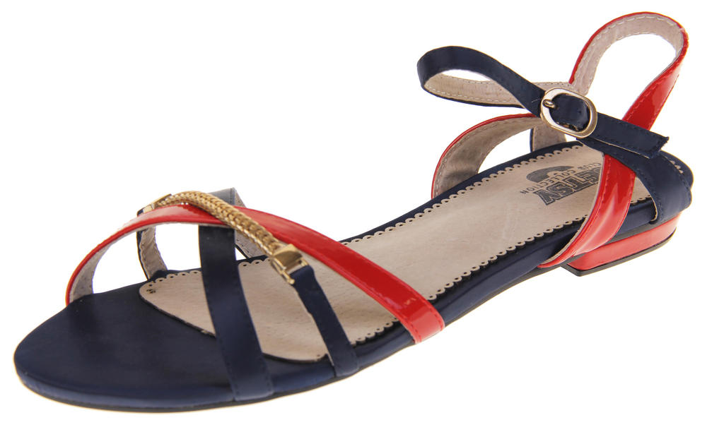 Womens Betsy Synthetic Leather Strappy Fashion Summer Sandals