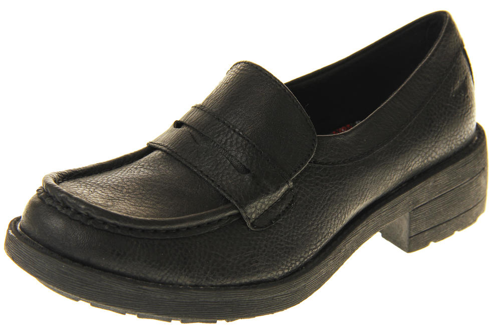 Womens Rocket Dog Black Brown High Quality Slip On Chunky Loafers