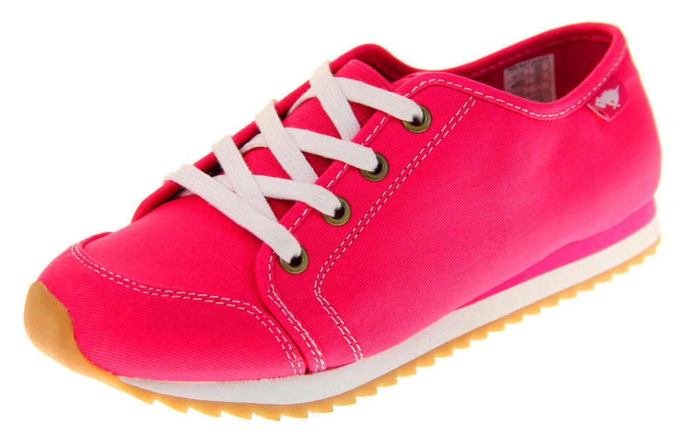 Womens Rocket Dog Pink Canvas Ladies Girls Lace Up Pumps Trainers
