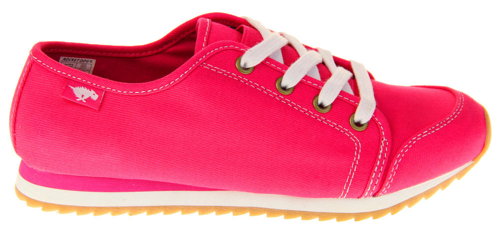 5434a62f366 Womens Rocket Dog Pink Canvas Ladies Girls Lace Up Pumps Trainers Thumbnail  7. Rocket Dog. 21510621