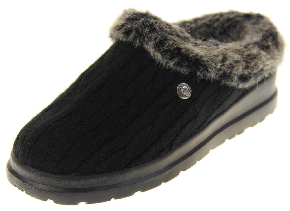 Womens Skechers Bobs Mule Slippers