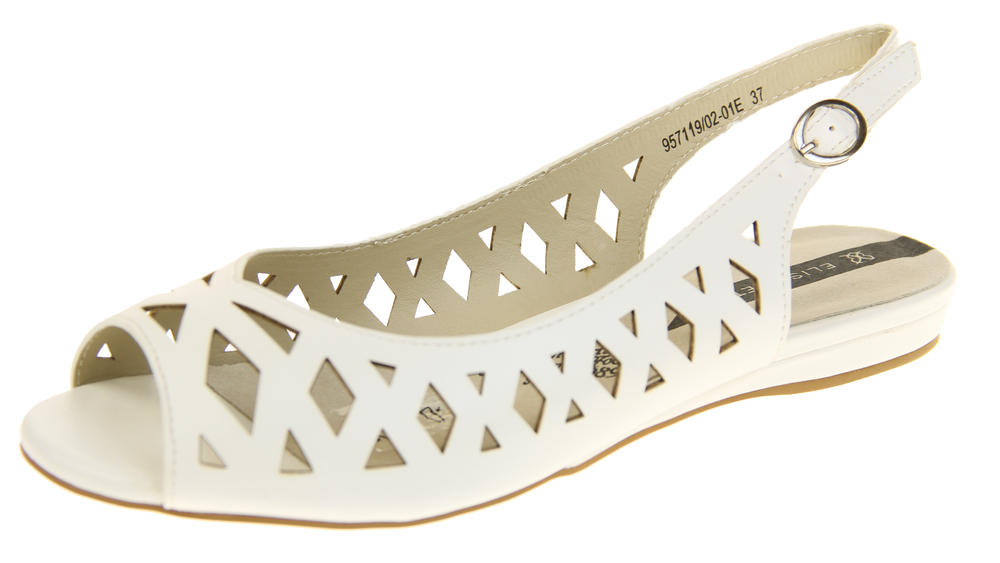 Womens Ladies Elisabeth Leather Designer Peep-Toe Fashion Sandals