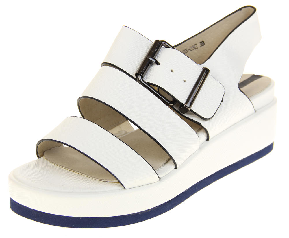 Womens Ladies Designer Betsy Leather Wedges Heels Summer Sandals