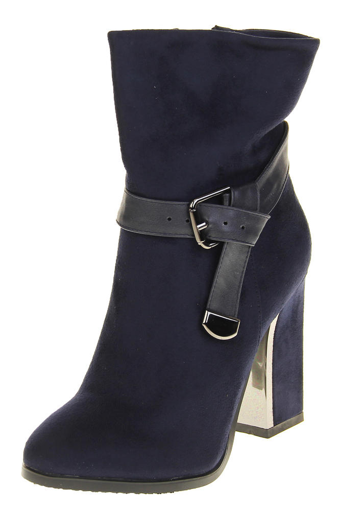 Womens Ladies Betys Faux Suede Short Boot Ankle Boots Zip Fastening