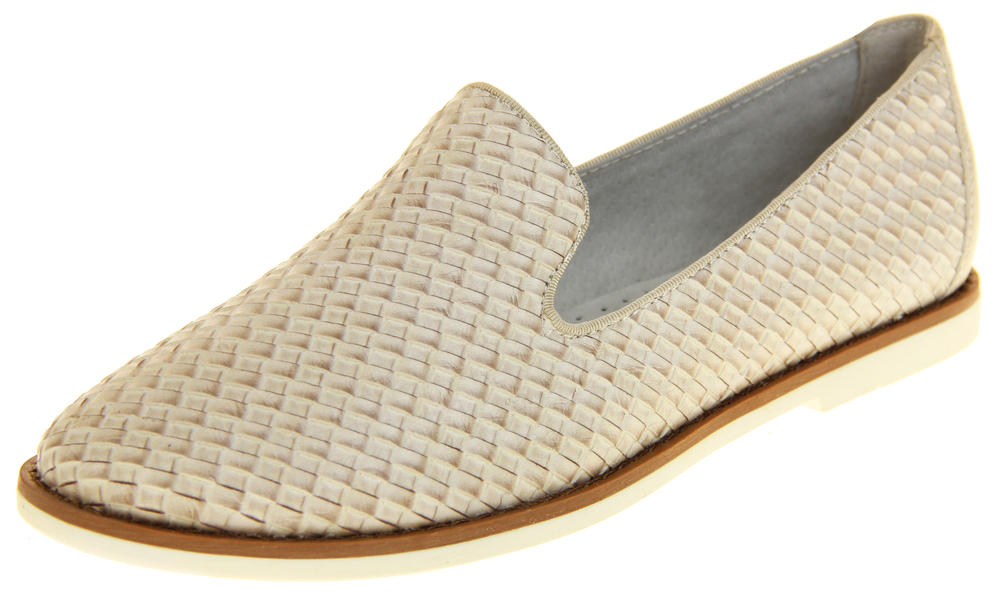 Womens Ladies Keddo Leather Casual Shoes Slip On Espadrilles