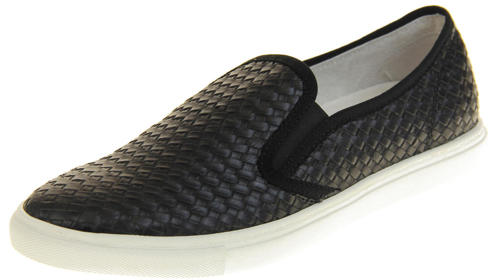 Womens Ladies Keddo Leather Casual Slip On Flat Weave Design Espadrille Pumps