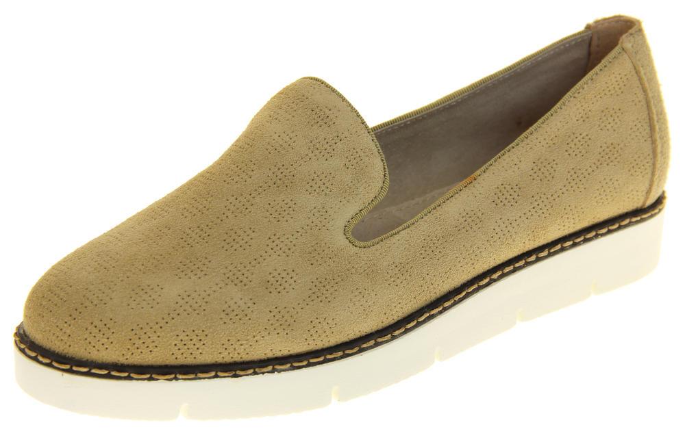 Womens Ladies Keddo Designer Leather Flat Casual Slip On Espadrille Pumps