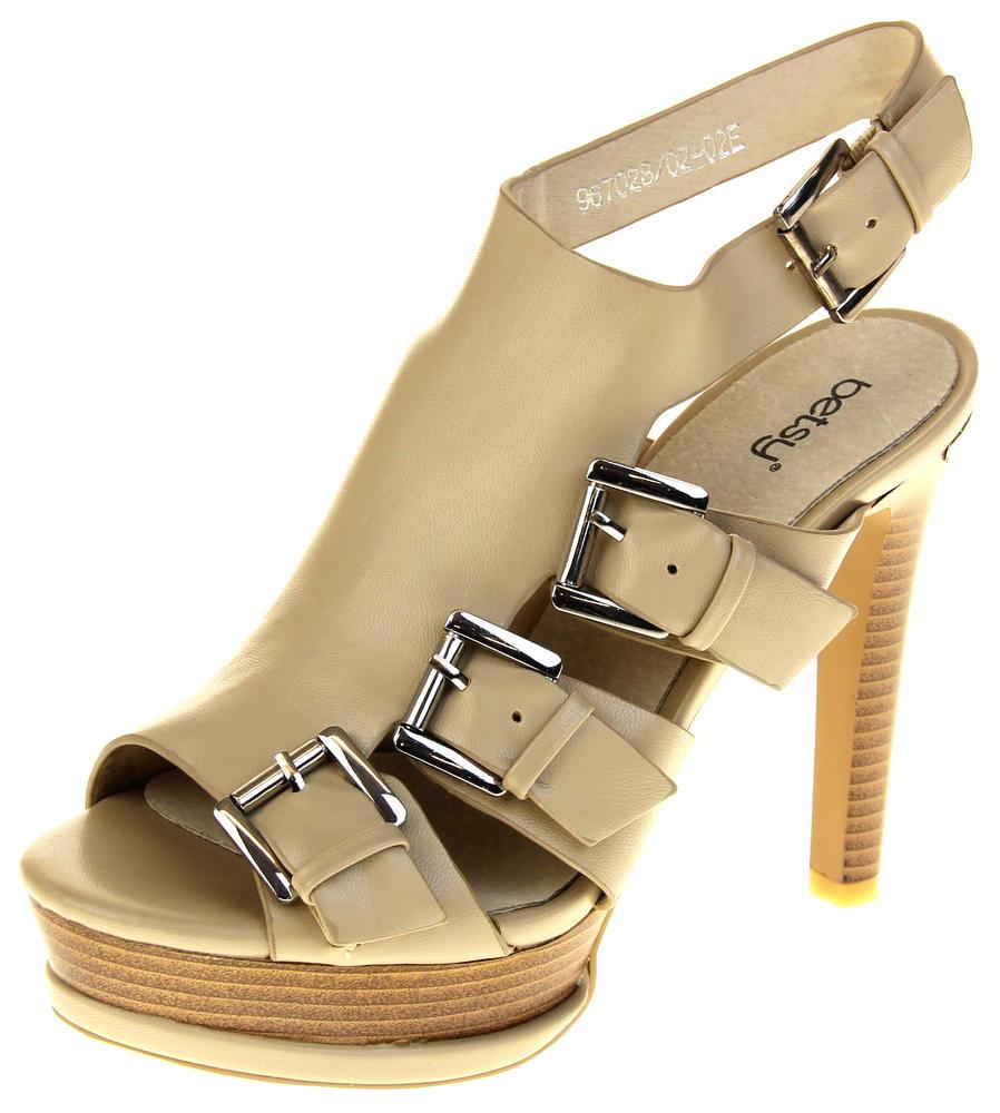 Womens Ladies Platform Heeled Strappy Fashion Sandals High Heel Shoes