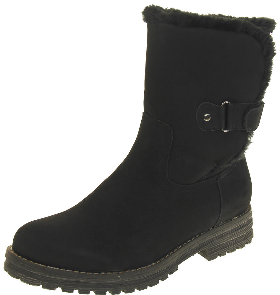 Womens Ladies Keddo Faux Suede Fashion Boots Comfy Casual