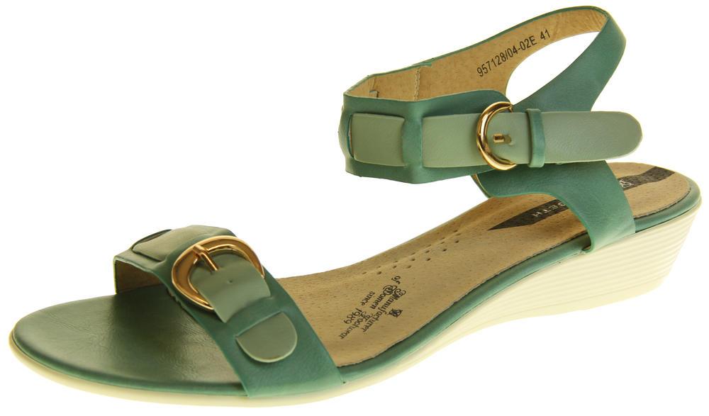 Womens Ladies Elisabeth Leather Flat Strappy Fashion Sandals