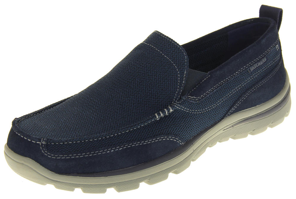 Mens Gentleman's Skechers Memory Foam Slip On Boat Shoe Trainers