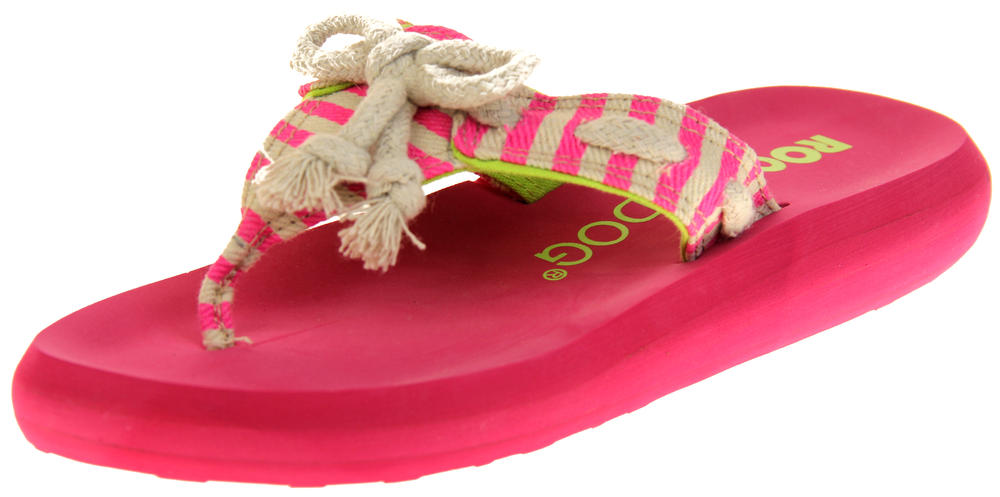 Womens Ladies Rocket Dog Pink Beach Holiday Flip Flops Lightweight