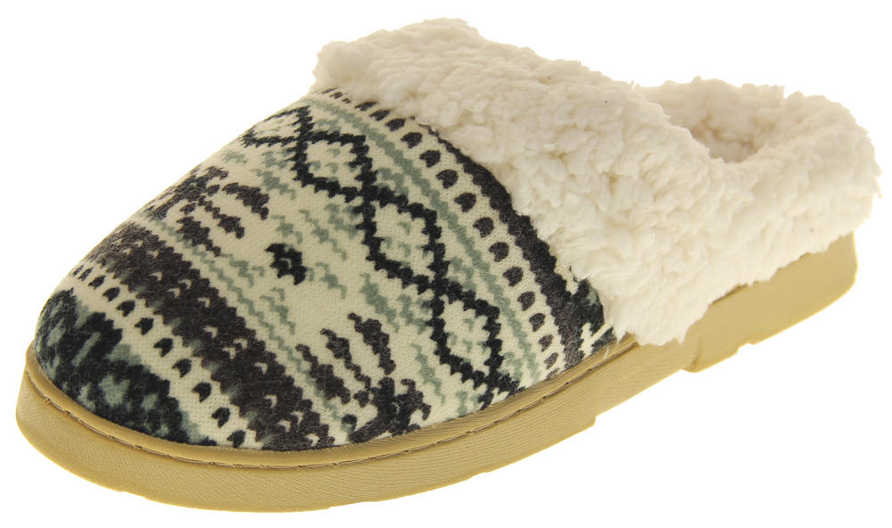 Womens Ladies Dr Keller Winter Synthetic Fur Warm Comfort Mule Slippers