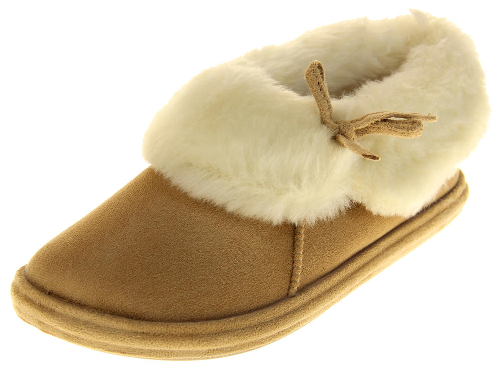 Womens Ladies Winter Synthetic Fur Warm Cosy Comfort Slippers
