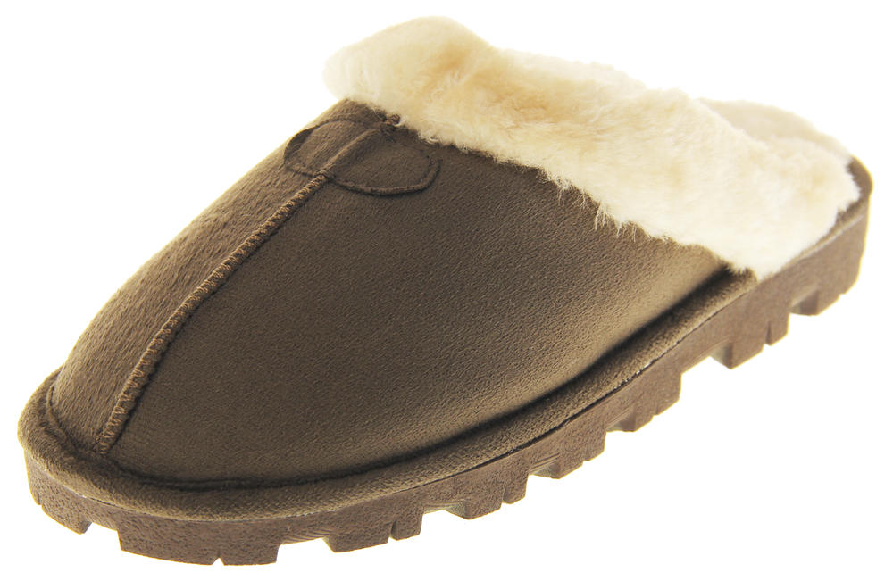 Womens Ladies Tyoti Synthetic Fur Cosy Warm Comfort Winter Slippers
