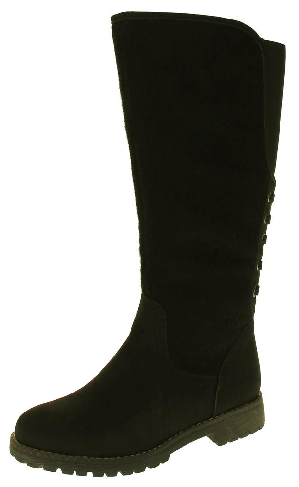 Womens 878138/02 Faux Leather Wool Lined Boots