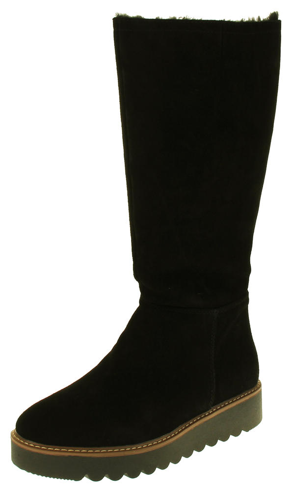 Womens 878175/10 Suede Leather Wool Lined Boots