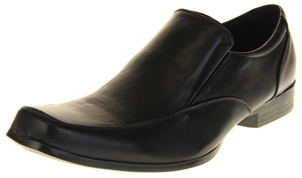 Mens Shoe Avenue Black Leather Slip On Formal Dress Work Wedding Shoes