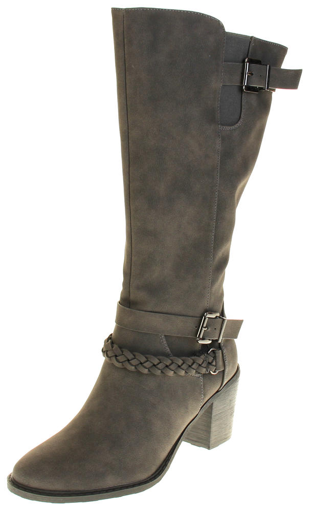Womens Ladies Betys Synthetic Leather Knee High Boots
