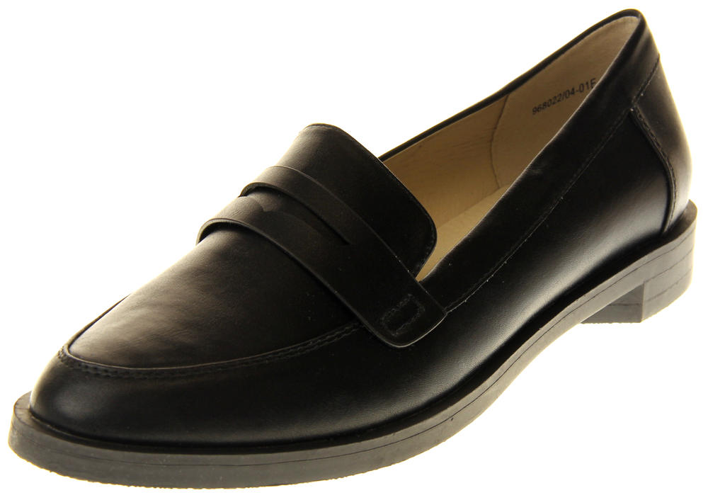 Womens Ladies Betsy Synthetic Leather Work Office Formal Loafers