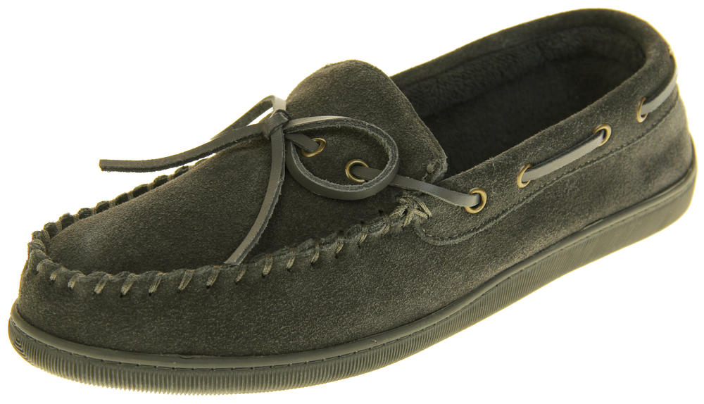 Mens Northwest Territory Leather Moccasin Slippers