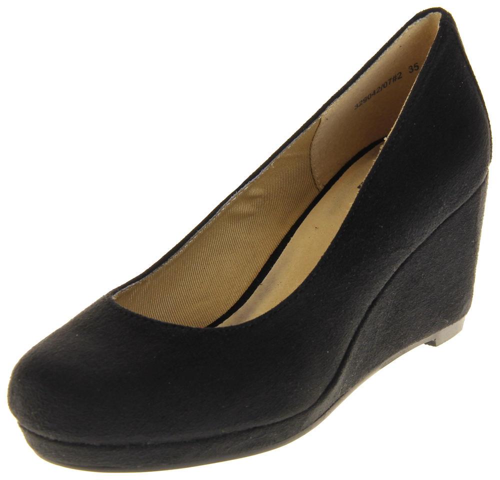 Womens Ladies Hidden Wedges Court Shoes