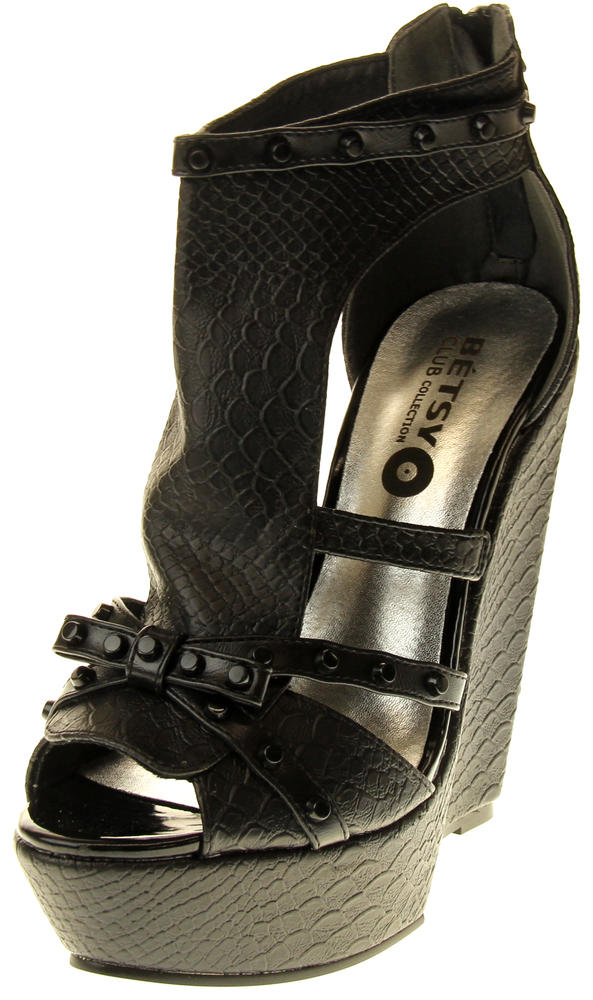 Womens Ladies Betsy Wedged Fashion Sandals