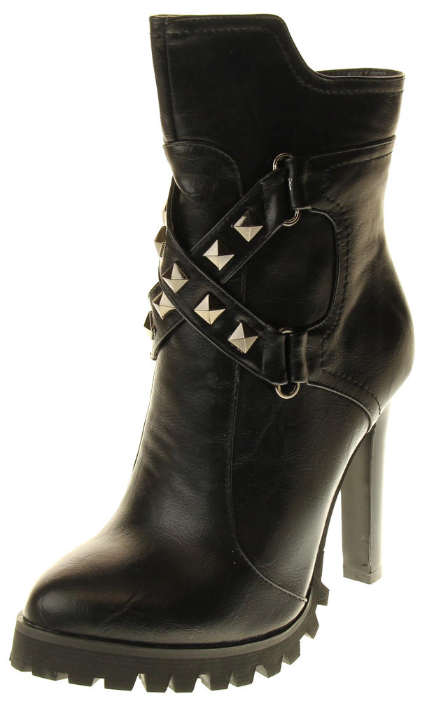 Womens Ladies Betsy synthetic leather Mid Calf Boots