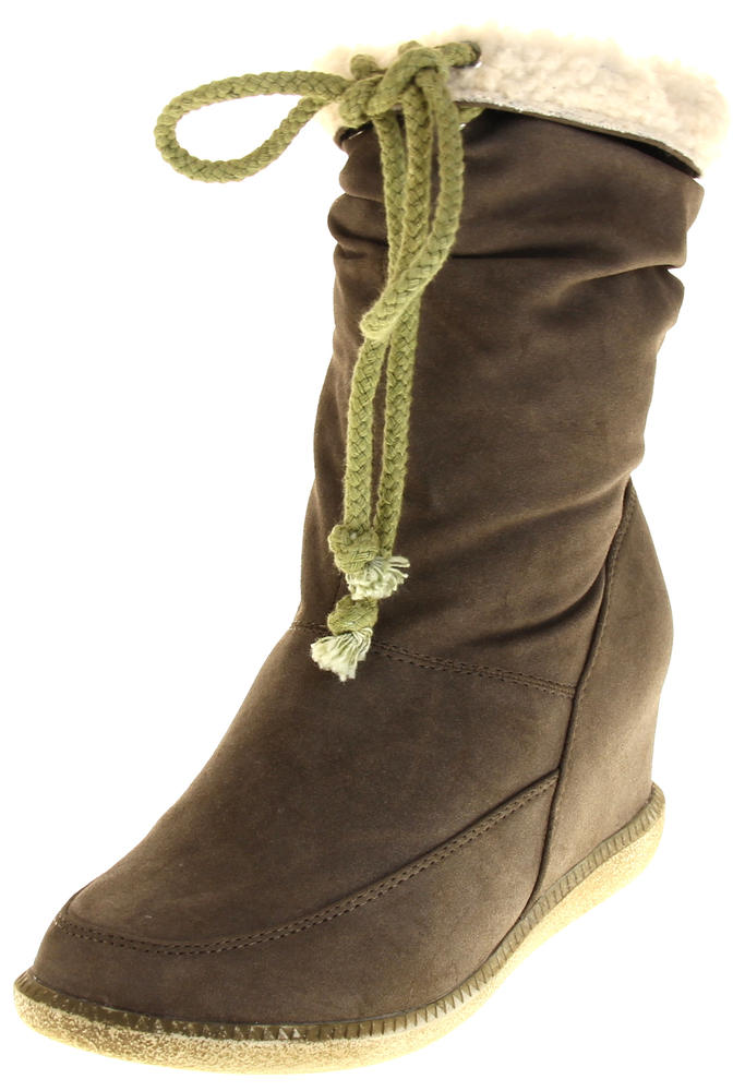 Womens Ladies Betsy Mid Calf Boots