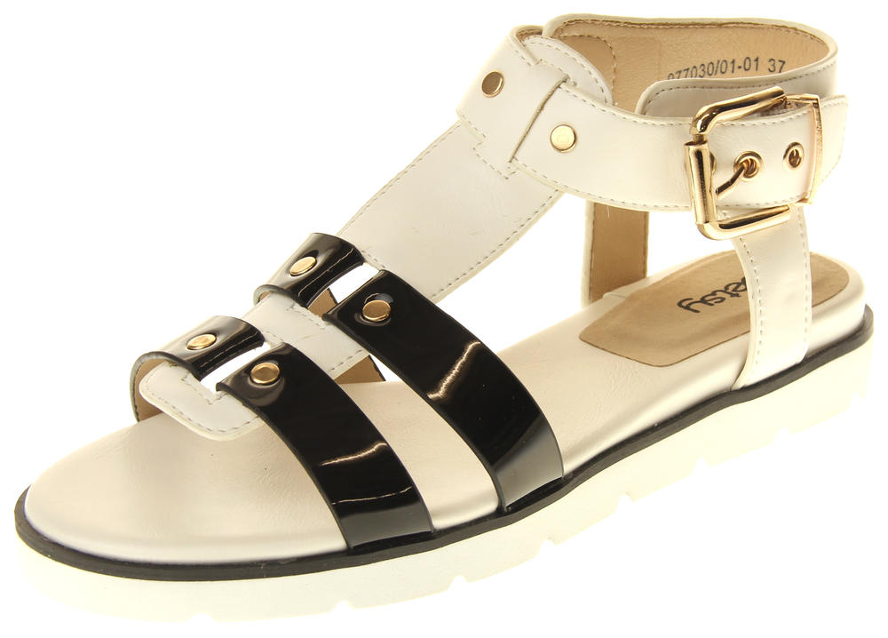 Womens Ladies Betsy Synthetic Leather Sandals
