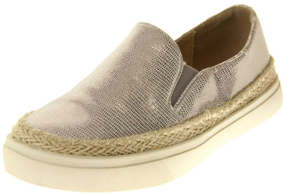 Womens Ladies Betsy Faux Leather Espadrille Pumps