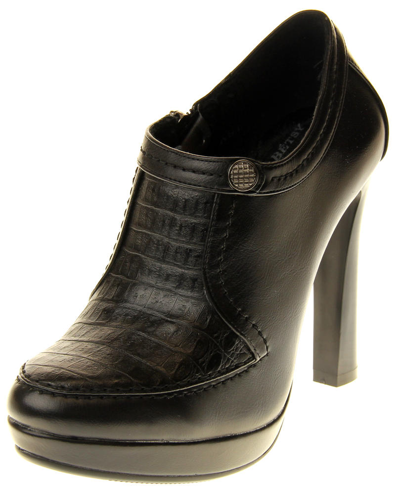 Womens Ladies Faux Leather High Heel Court Shoes