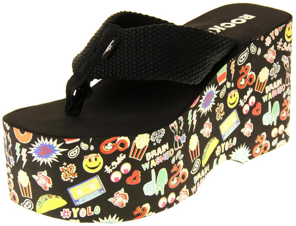 Womens Ladies Rocket Dog Flip Flops Platform Shoes