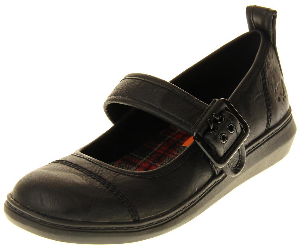 Womens Ladies Rocket Dog Faux Leather Ballerina Shoes