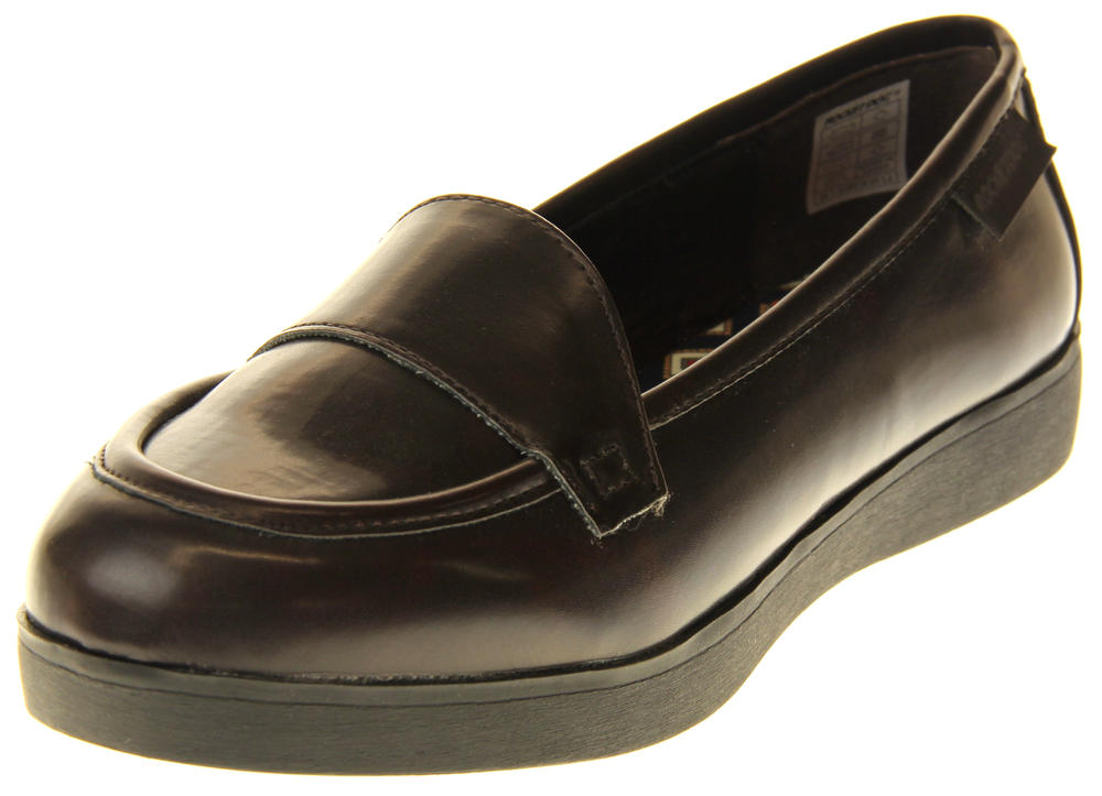 Womens Ladies Rocket Dog Brown Faux Leather Loafers