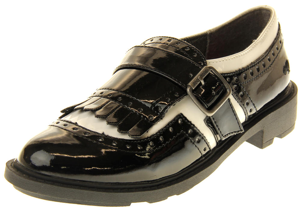 Womens Ladies Rocket Dog Faux Patent Leather Loafers