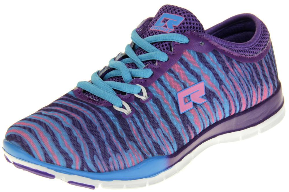 Womens Ladies Crosby Purple Sports Trainers