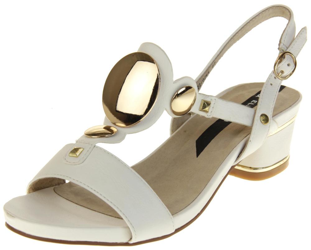 Womens Ladies Keddo Faux Leather Studded Fashion Sandals