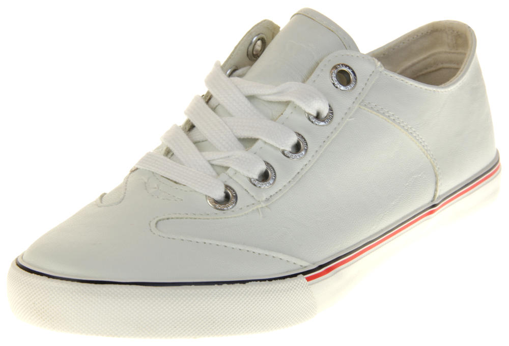 Womens Ladies Keddo Faux Leather Casual Trainers
