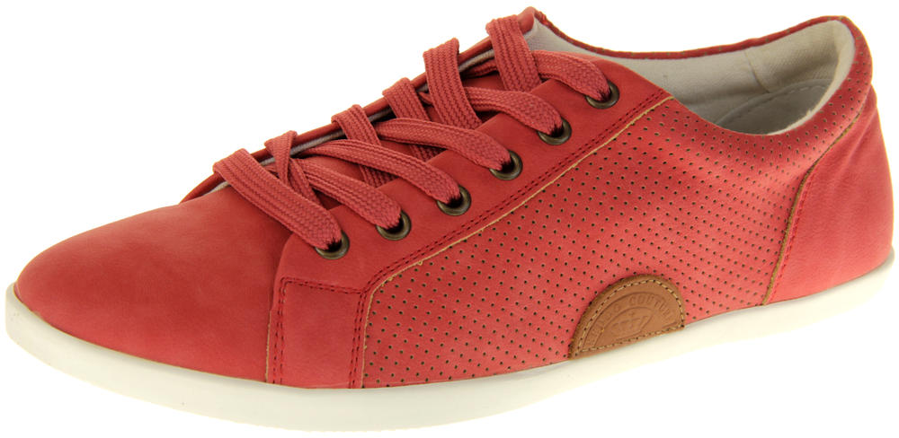 Womens Ladies Keddo Leather Trainers