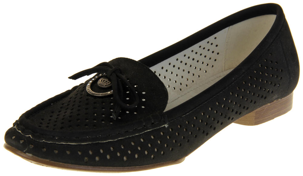 Womens Ladies Keddo Leather Summer Boat Shoes